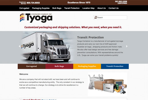 Tyoga Container - Homepage