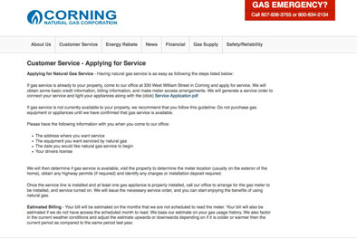 Corning Natural Gas Meter Reading